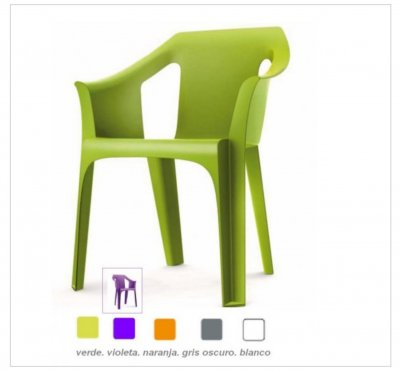 Cool verde lima Sillon apilable resina muy resistente