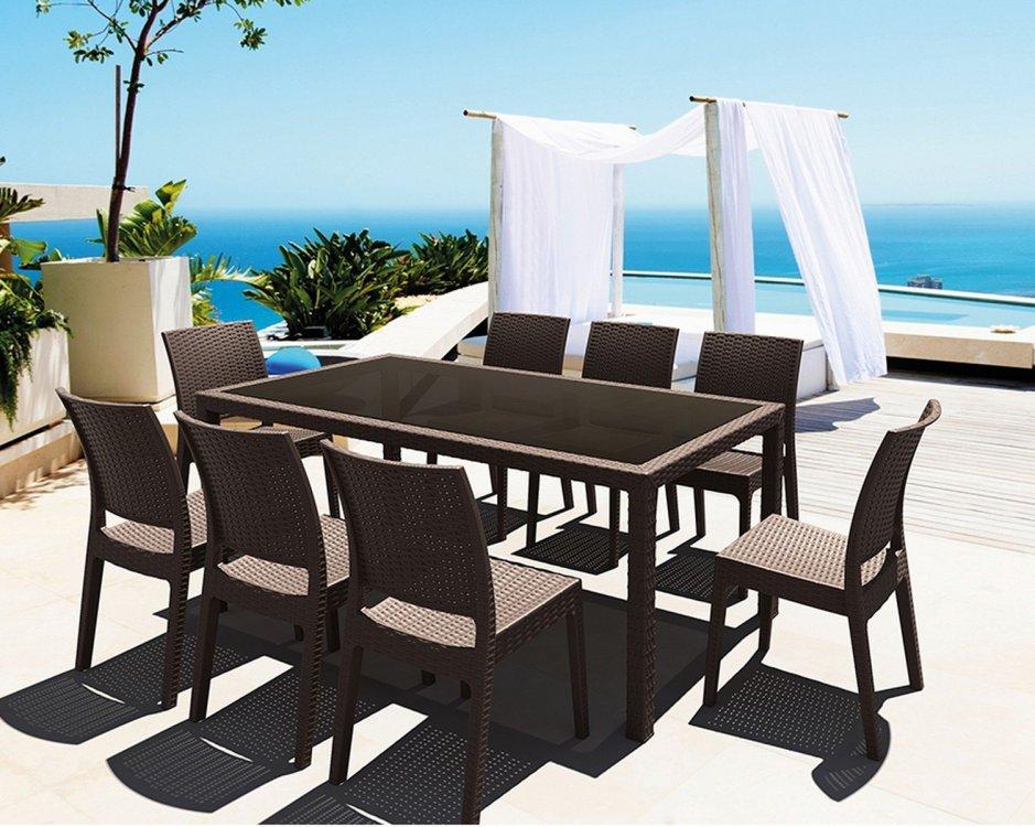 Mesa para terraza mesa umnacou con cuatro patas de for Mesas y sillas para terraza