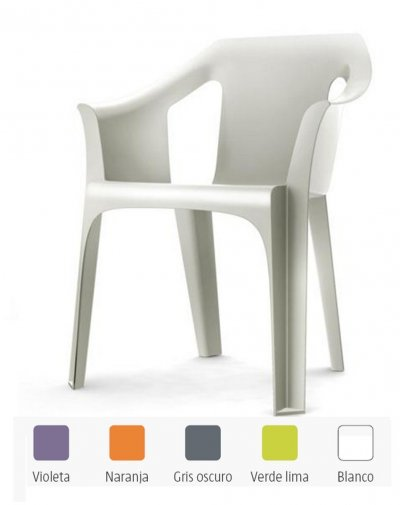 Cool Blanco Sillon apilable resina muy resistente