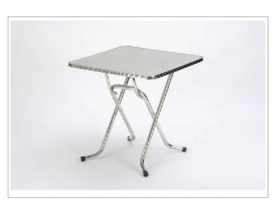 mesa plegable aluminio inoxidable terrazas hosteleria
