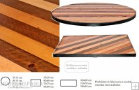 FRANKLIN Mesa pie central metalico tapa madera