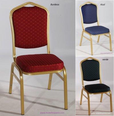 Convencion silla aluminio apilable tapizada hotel mobel hispania mobiliario para - Sillas segunda mano ...