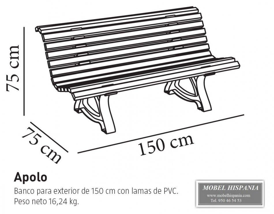 Apolo Banco Resina De Polipropileno Terraza 135 00eur