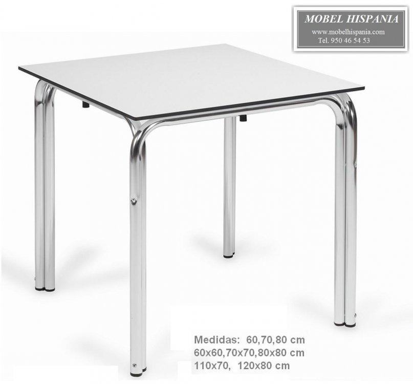 Ag 1547 Mesa Doble Tubo Aluminio Tablero Compacto Terraza