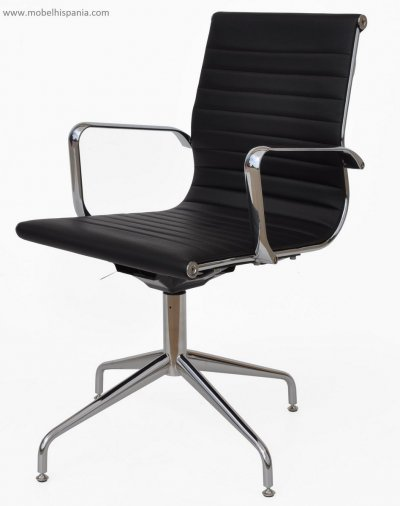 UV.ALFA Confidente Sillon base aluminio giratorio oficinas