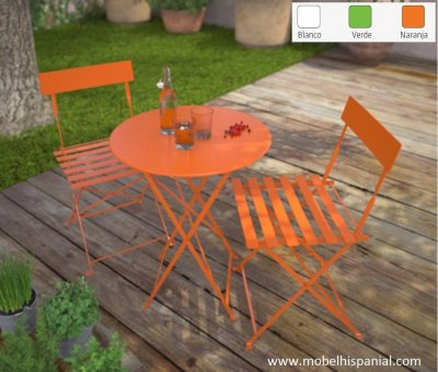 Tea time sillas y mesas plegables metalicas terraza 99 for Sillas plegables terraza